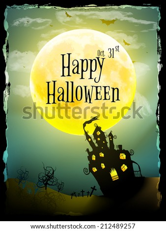 Halloween party greeting card. EPS 10 vector file included - stock vector
