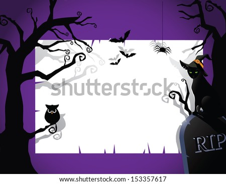 Halloween party invitation background. EPS 10 vector, grouped for easy editing. No open shapes or paths. - stock vector