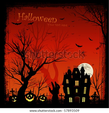 Halloween poster invitation - stock vector