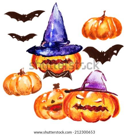 Halloween pumpkin,vector - stock vector