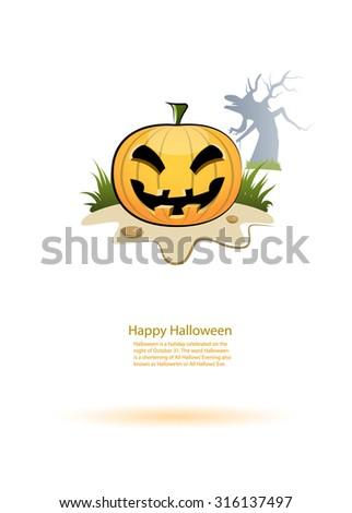 Halloween pumpkin. Vector - stock vector
