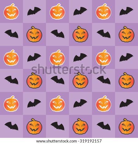 Halloween seamless pattern. Vector EPS 10 - stock vector