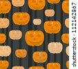 Halloween seamless pattern with pumpkins - stock vector