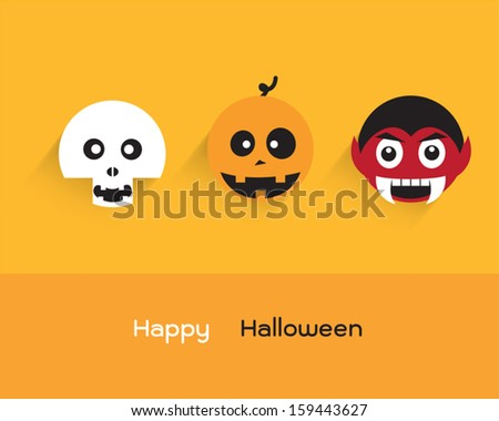 Halloween Set 3 : Spooky - stock vector