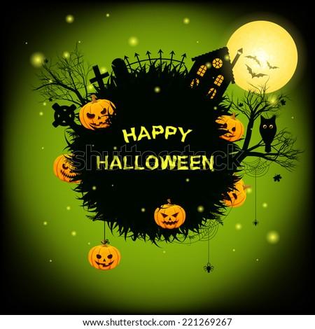 Halloween speech bubble - stock vector