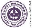 halloween stamp - stock vector