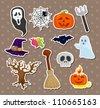 Halloween stickers - stock vector