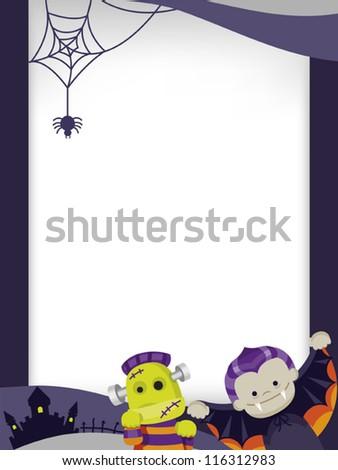 halloween templates - stock vector