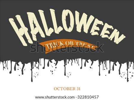 Halloween Text Banner - stock vector