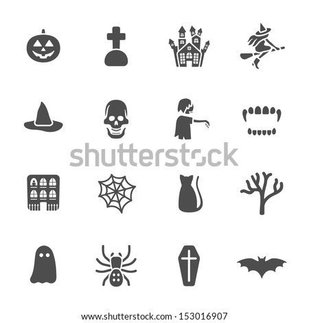 Halloween theme icons - stock vector