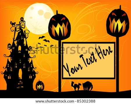 Halloween Themed invite,flyer or background - stock vector