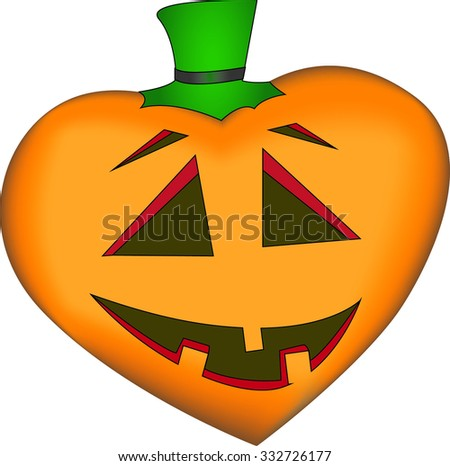 Halloween valentine. vector illustration - stock vector