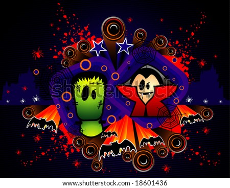 halloween vampire vector - stock vector