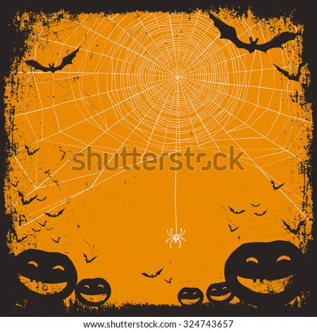 Halloween vector background - stock vector
