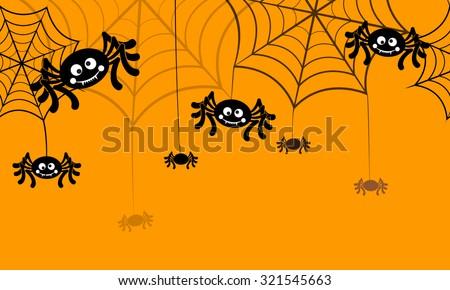 Halloween vector background seamless pattern. Spider web, halloween symbols. Halloween silhouette for halloween party. Halloween seamless background, spider vector. Halloween spider seamless pattern - stock vector