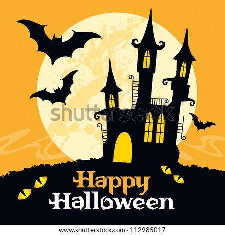 Halloween vector card. Vector art - stock vector