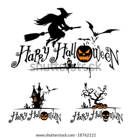 Halloween vector designs. - stock vector