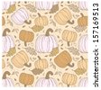 Hallowen hand-drawn seamless pattern.  Use for wallpaper, textiles, pattern fills, web page background - stock vector