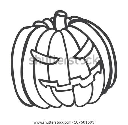 haloween pumpkin - stock vector