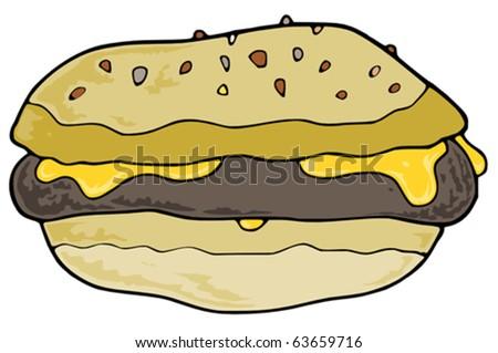 Hamburger - stock vector