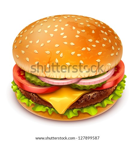 hamburger icon - stock vector
