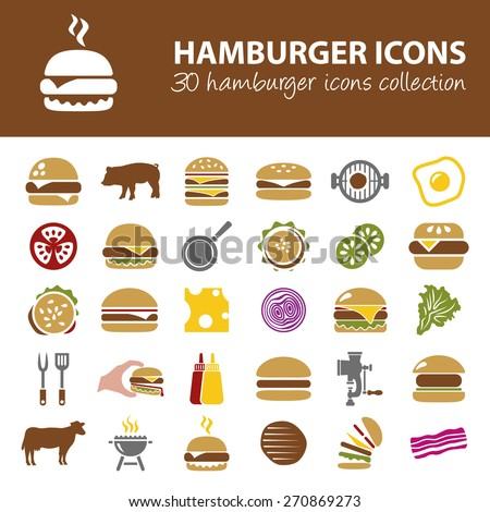 hamburger icons - stock vector
