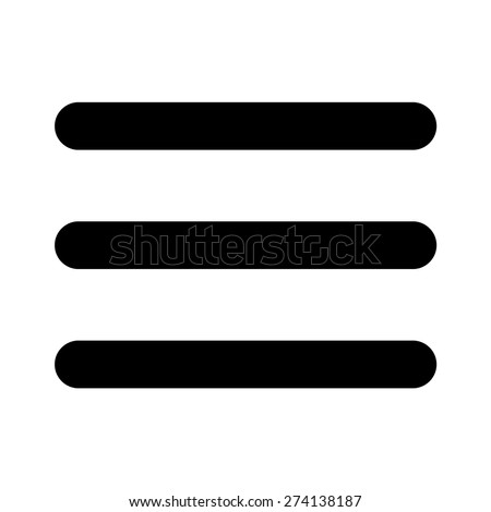 Hamburger menu bar line art icon for apps and websites - stock vector