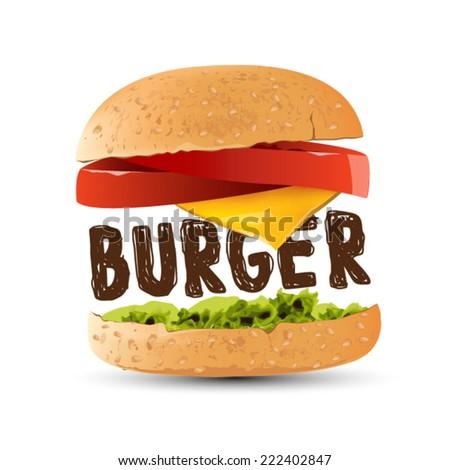 hamburger vector design - stock vector