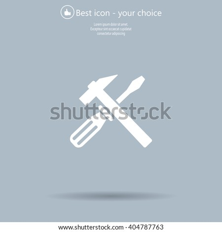 Hammer and Screwdriver Icon. Vector illustration - stock vector