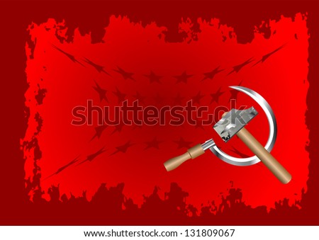 hammer and sickle - stock vector