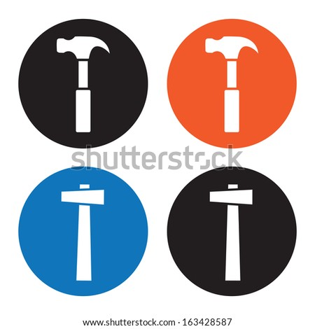 Hammer icons - stock vector