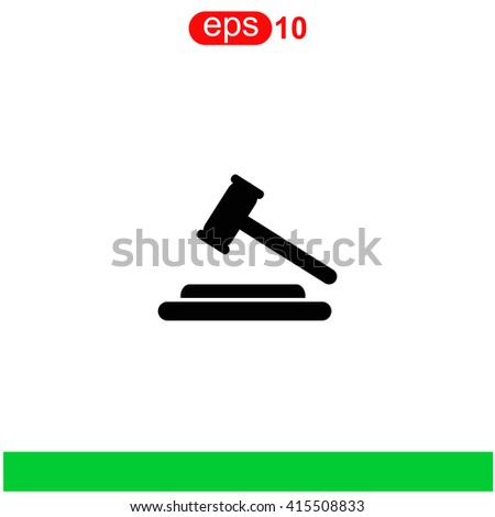 Hammer judge icon. Universal icon to use in web and mobile UI - stock vector