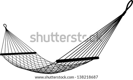 hammock on a white background - stock vector