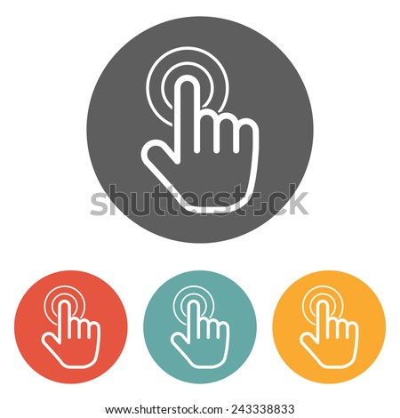 hand click icon - stock vector