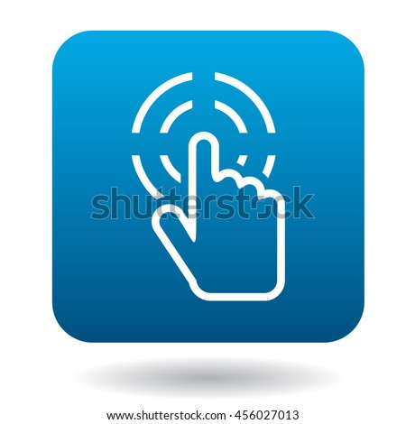 Hand cursor clicks icon in simple style on a white background - stock vector