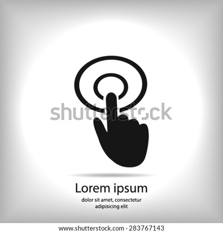 Hand cursor sign icon. Hand pointer symbol. Modern UI website navigation. Flat design. EPS 10. - stock vector