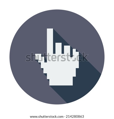 Hand cursor. Single flat color icon. Vector illustration. - stock vector