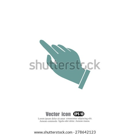 hand cursor  vector icon - stock vector
