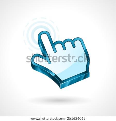 Hand Cursor Vector Symbol, Computer Mouse. - stock vector