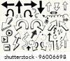 hand draw arrow icon - stock vector