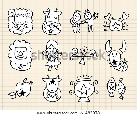 hand draw Constellation - stock vector
