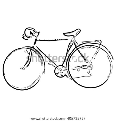 Simple bicycle illustration - photo#27