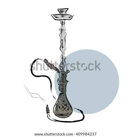 Hand draw sketch hookah vector illustration - stock vector