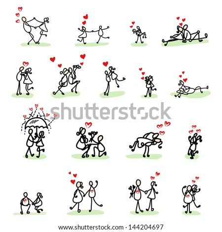 Cute Love Drawing Hand Drawing Cartoon Love