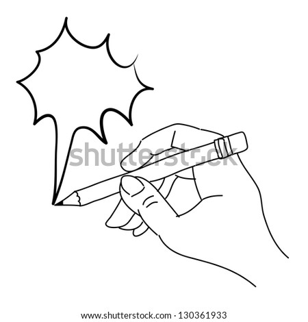 hand drawing freehand sketch hand writing speech bubble vector for design - stock vector