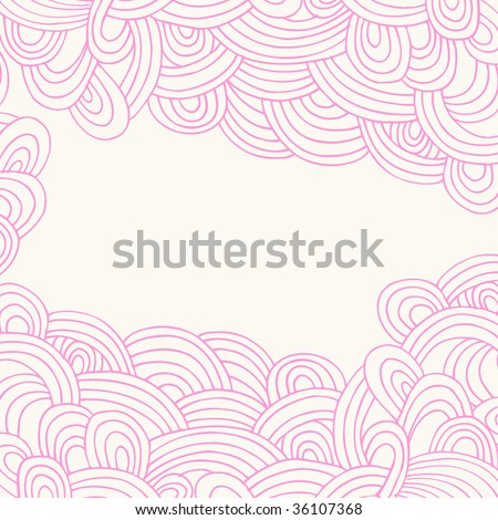Hand-Drawn Abstract Waves Doodle Henna Vector - stock vector