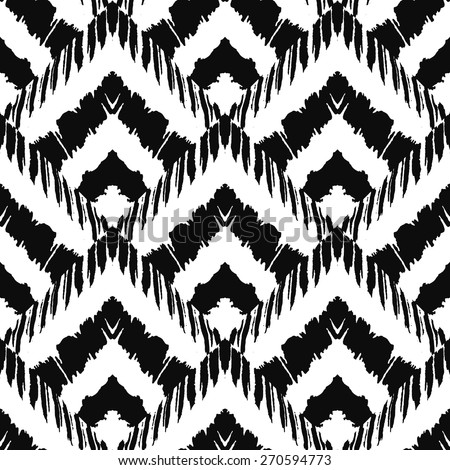 Hand drawn art deco painted seamless pattern. Vector illustration for tribal design. Ethnic motif. For invitation, web, textile, wallpaper, wrapping paper. - stock vector