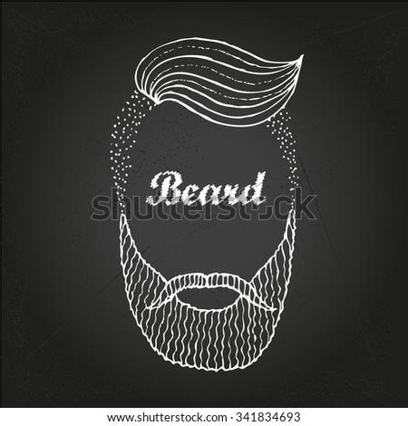 Hand Drawn Beard - stock vector