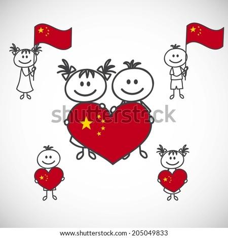 china flag cartoon