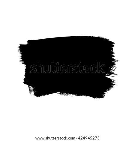 Hand drawn brush design element, black paint ink brush strokes. Grunge brush stroke. Dirty brush stroke. Artistic creative shape vector illustration. - stock vector